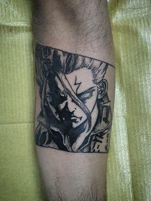 Senku from Dr. Stone (manga style)