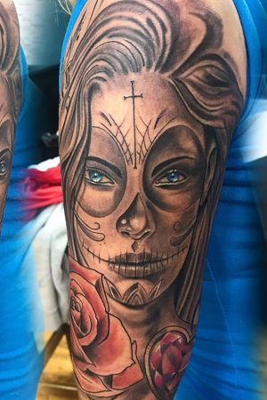 Muerto day of the dead start of a sleeve