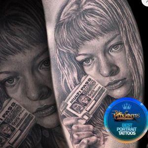 Award for best portrait tattoo in tattoo award—-> 5th element