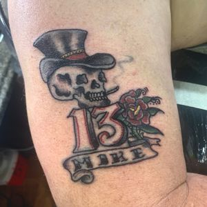 brought this tattoo back to life/covered up from the 70s!