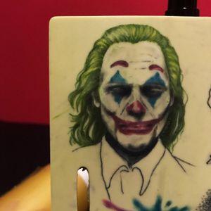 Joker 🃏 practice on fake skin! ✨ #fakeskin #tattoopractice #tattoo #jokertattoo