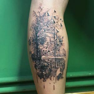 #legtattoo #treetattoo #autumn #foresttattoo #tatts #tattoo #tattoos #rootstattoo #tattooart #artwork #realism #inked #ink #realistictattoo #guiartwork #blackandgrey #blackandgreytattoo #autumntattoo #darkartists #realismtattoo #tattoosofinstagram #inkstagram #berlintattooartist #subculturetattoo #hustlebutterdeluxe  #electrumstencilprimer #kwadron #tätowierung #blackandgrey #blackandgreytattoos
