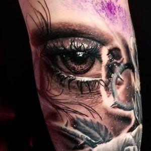 #eye #eyetattoo #blackandgreytattoo #progress #realism #realistic #blackandgrey