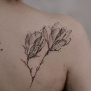 Botanical fineline tattoo