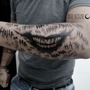 Joker smile laugh laughs batman