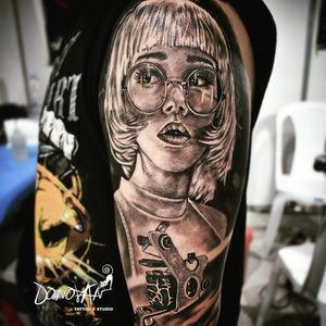 Este rostro me encanta 😍 #tatuajestunja #tattoo #tattoolife #tattooink #rostroperfecto #machinetattoo
