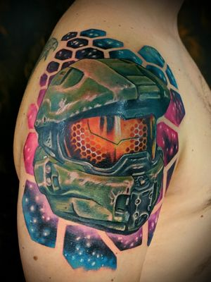 Master chief from Halo I recently completed! More detail pics coming soon! More video game tattoos please! Maybe Borderlands? Email me at twiggytattooer@gmail.com @tattoometamorphosis @metamorphosistattoosideshow . . . #coloradoart #coloradotattooartist #coloradotattoo #coloradoartist #tattoo #tattooartist #lyonscolorado #longmonttattoo #longmontcolorado #bouldertattoostudio #boulderartgallery #bouldercoloradotattooshop #boulder #bouldertattoo #bouldertattooartist #bouldercolorado #estesparkcolorado #coloradotattoostudio #gamer #gamertattoo #gamerink #halo #halotattoo #masterchief #masterchieftattoo #borderlands #borderlands3 #nerdytattoos #gamerink #gamertattoo