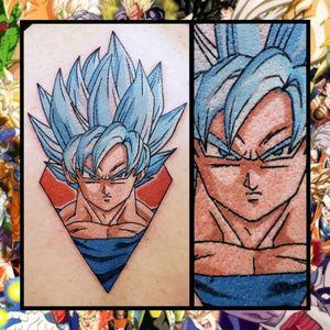 Goku... #geektattoo #geekedouttattoos #geeksterink #geekytattoos #comicbooktattoo #nerdytattoos #nerdtattoo #nerdtattoos #brightandbold #traditionaltattoo #realtattoos #realtraditional #tattoos #tattooflash #neotraditional #solidtattoo #lasvegastattooer #dragonballz #goku