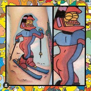 Stupid Sexy Flanders... #geektattoo #geekedouttattoos #geeksterink #geekytattoos #comicbooktattoo #nerdytattoos #nerdtattoo #nerdtattoos #brightandbold #traditionaltattoo #realtattoos #realtraditional #tattoos #tattooflash #neotraditional #solidtattoo #lasvegastattooer #simpsons #simpsonstattoo #nedflanders #flanders