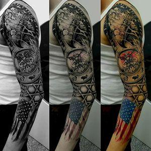 #americantattoo #tattooamerica #ideatattoo #eaglealbania #albanian #american #americanflag #eagletattoo #clocktattoo #sleevetattoo #fullArmSleeve #fullarmsleve #tattooartistmagazine #tattooartist #tattooart #tattoo #tatoo #tato #tatu #