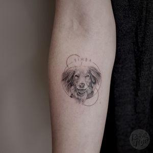 Dogportrait about 6cm.