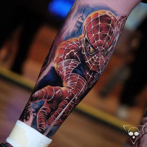 Spiderman done at Wuppertal Tattoo Convention - would love to do more of this topic !