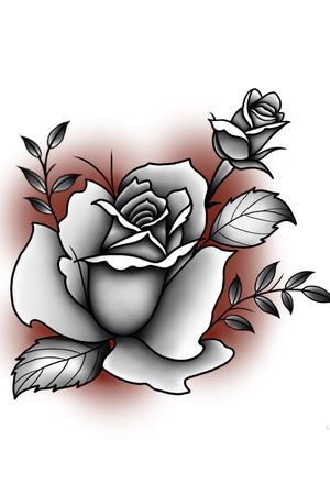 Custom rose for a client #flower #flowers #flowertattoo #floral #floraltattoo #blackandgrey #blackandgreytattoo #linework #lineworktattoo #rose #rosetattoo #leaf #leaves #leaftattoo #leavestattoo #popofcolor