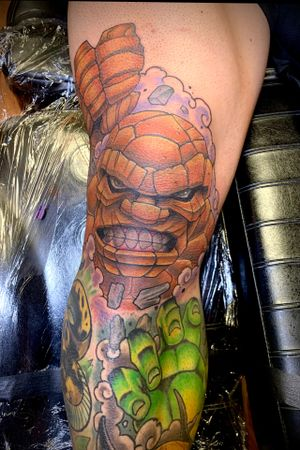 Thing from Fantastic Four on the knee