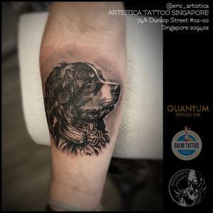 Throwback. Black and grey Dog portrait on client forearm. Tattooed at Needle Art Tattoo (Netherlands). 😊🙏🏻 ARTISTICA TATTOO SINGAPORE 74A Dunlop Street #02-00 Singapore 209402 ☎️ +65 82222604 #tattoo #tattooed #tattoolovers #ilovetattoo #sgtattoo #singaporetattoo #singaporetattooartist #bodyart #nopainnogain #dog #blackandgreytattoos #forearmtattoo #realistictattoo #portrait #artistica #artisticatattoo #artisticasingapore #ericartistica #balmtattoo #balmtattoosg #balmtattoosingapore #balmtattooteamsg #balmtattooartist #dragonbloodbutter #quantumtattooink #netherlands #europe #nedzrotary #criticaltattoosupply #sparktattoocartridges