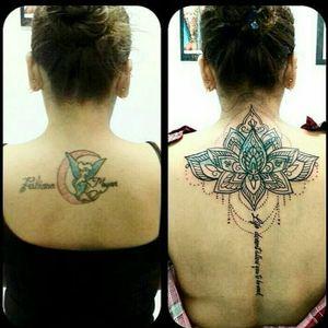 tattoo ver up cubrimient #coverup #coveruptattoo #mandalatattoo #flowertattoo #letteringtattoo #lima #limatattoo #tattoolima #lototattoo #cubrimientotattoo