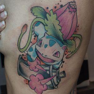Ivysaurus from today 🔥 #tattoodo #pokemon #tattoo