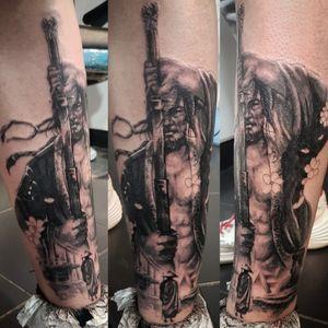 In progress #tattoing #tattoo #tattooshop #tattoowork #tattooink #tattooinsta #tattoodesign #tattoodo #ink #inked #inkedlife #legtattoo #blackandgreyrealismtattoo #blackandgreytattoo #realistictattoo #portraittattoo #inkmachines #dragonflytattoomachine #kwadronneedles #tattooinsta #tattooart #tattooartis #tattoosleeve #tattooideas #tattoostyle #tattooer #tattoosofinstagram #tattoolifestyle #ink #inked #samurai #samuraitattoo #guestartist