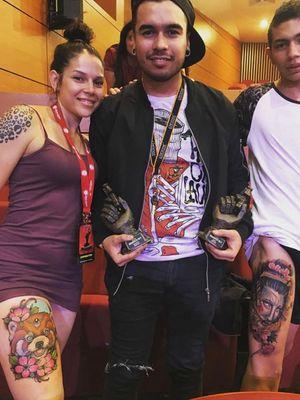 Primer puesto en neotradiconal y oriental en Expo tattoo 🔥🔥