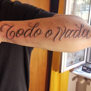 Lettering freehand