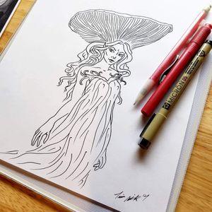 #porttownsend #trinaminkart #trinamink #trinaminkdesign #pnw #mushroomtattoo #mushroom #faerie #fairy