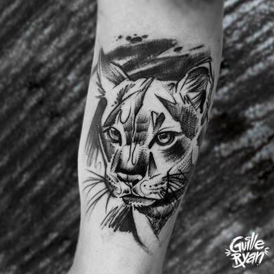 @guilleryan.arttattoo guilleryanarttattoo@gmail.com #animaltattoos #puma #blackworkartist #portrait #sketchtattoo #tattoobarcelona #tattoo #tattooist #inkaddict #amazingink #inkjunkeyz #tattoosnob #radtattoos #dworld_of_ink