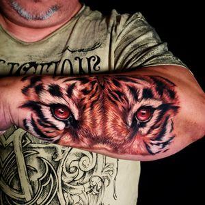 #tigertattoo #tigerhead #eyes #colortattoo #colorrealism #ink