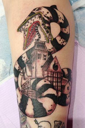 Beetlejuice flash tattoo