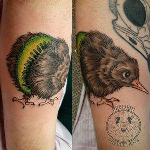 Original kiwi bird flash piece 🥝