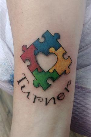 Custom autism tattoo
