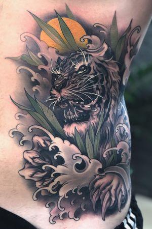 Flowting tiger #tattoodo #inkjecta #wearesorrymom #killerinktattoo