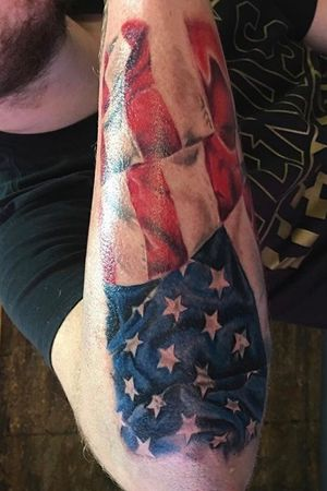 American flag on a cool client and veteran!! 🇺🇸