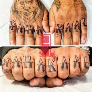 God of death in hindu...#handtattoos #fingertattoos #customlettering #byjncustoms