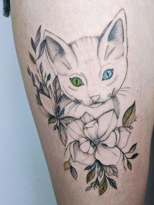 Tattoo from @czarnykottattoo  Gdansk