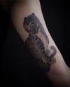 Blackwork tiger tattoo by Apro Lee #AproLee #prvtsrvc #blkmrkt #Seoul #korean #koreantattooartist #blackwork #tiger #illustrative #koreantiger