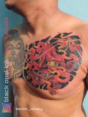 Yakuza tattoo Japanese Tattoo color ink realistic ink realism tattoo Japanese character