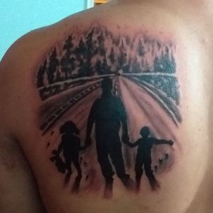 #blackandgrey#paisaje#tattoodoo