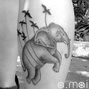 #antoniomai #amaitattoo #losangeles #Tribal #Polynesian #Maori #Samoan #Geometric #DotWork #BlackWork #OldSchool #Traditional #Japanese #Irezumi #FineLine #Ornamental #elephant