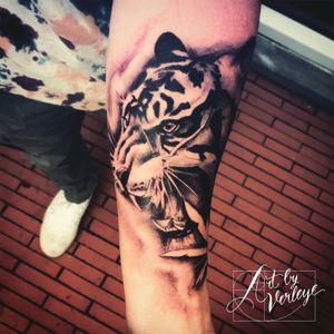 #ArtbyVerleye #tiger #armtattoo