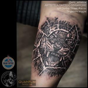 Black and grey Tiger breaking out. On client innerarm. Tattooed at Needle Art Tattoo (Netherlands). 😊🙏🏻 ARTISTICA TATTOO SINGAPORE 74A Dunlop Street #02-00 Singapore 209402 ☎️ +65 82222604 #tattoo #tattooed #tattoolovers #ilovetattoo #sgtattoo #singaporetattoo #singaporetattooartist #bodyart #nopainnogain #tiger #blackandgreytattoos #innerarmtattoo #realistictattoo #animal #artistica #artisticatattoo #artisticasingapore #ericartistica #balmtattoo #balmtattoosg #balmtattoosingapore #balmtattooteamsg #balmtattooartist #dragonbloodbutter #quantumtattooink #netherlands #europe #nedzrotary #criticaltattoosupply #sparktattoocartridges