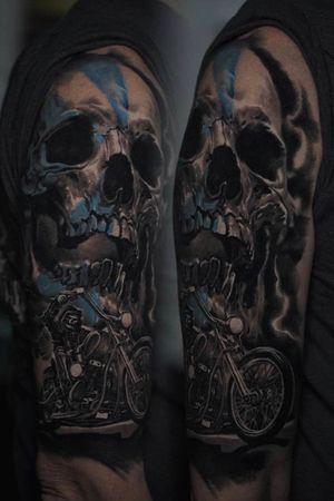 Badass pict inspired skull tattooed by @edgarivanov 💀🔥
