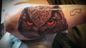 Owl #blackandgray #greyscale #owltattoo