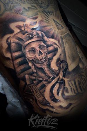 Egyptian black and gray tattoo with all seeing eye tattoo by kintoz #atlanta #atl #tattoo #tattoos #blackandgreytattoo #blackandgreytattoos #ink #atlantatattoos #atlantatattoo #tattooed #tattoosforgirls #tattoolife