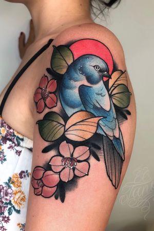 Blue bird - El Tano - IG: @eltanotattoo