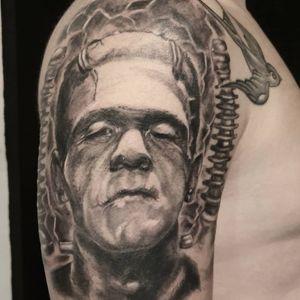 Frankenstein with custom background. Healed