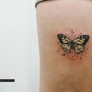 Mariposa, color pastel