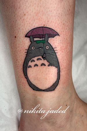 Totoro on the ankle