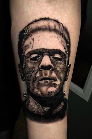 Frankenstein tattoo done a while back. #kyledevriesink
