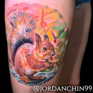 Squirrel tattoo from the Covered Toronto Tattoo Show