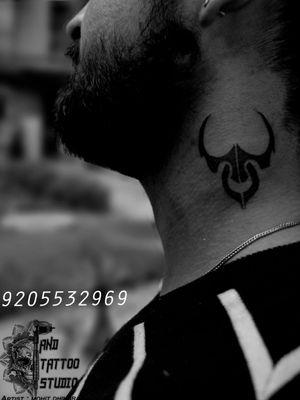 DM FOR APPOINTMENT 9205532969 #bulltattoo #Taurus #taurussigntattoo #necktattoos
